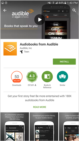 Do you keep your audible books